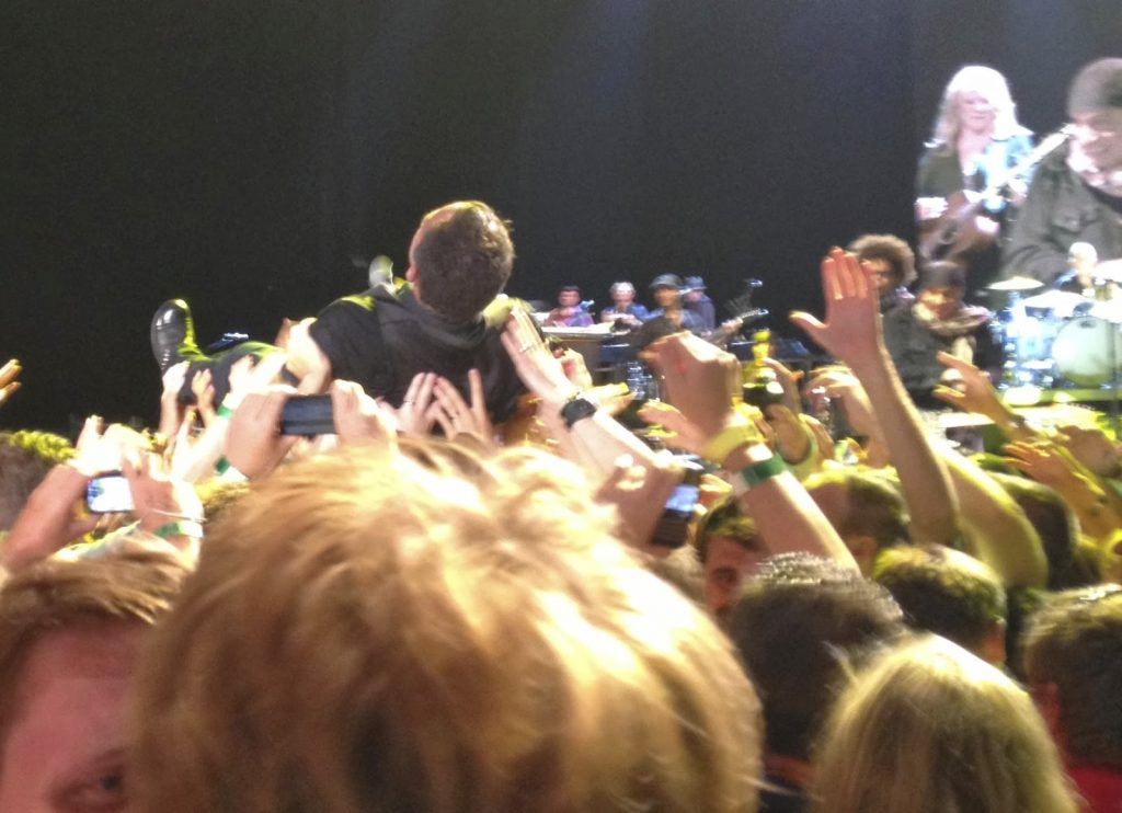 Yes, I was part of this crowdsurf wave. I think my best tweet ever was the one I sent moments after I took this. It said: 'I just had #BruceSpringsteen in the palm of my hands'